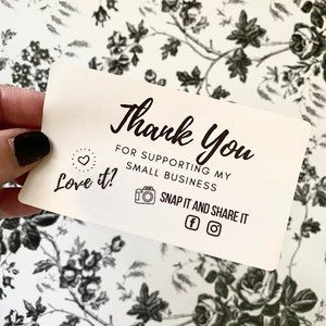 Thank You For Supporting My Small Business Labels